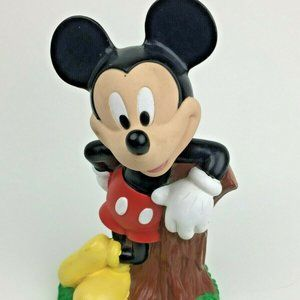 """Disney Mickey Mouse Rubber Plastic Coin Bank 8"""""""